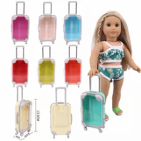 2021ใหม่18นิ้ว43ซม.Born ใหม่ตุ๊กตาเด็กอุปกรณ์เสริมรถเข็นกระเป๋าเดินทางสำหรับของขวัญวันเกิดเด็ก