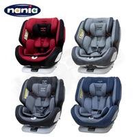 【領券滿額折50】NANIA 納尼亞 納歐360度旋轉0-12歲 Isofix 汽車安全座椅 - 紅/灰/黑/藍【悅兒園婦幼生活館】