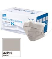 佑合 成人醫療口罩 燕麥棕 50入/盒【躍獅】