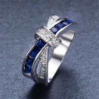 ขายส่งแหวนเงิน925สวยสวยแฟชั่นงานแต่งงานแหวนทองคำขาวผู้หญิงสีหินคริสตัลเลดี้เครื่องประดั...