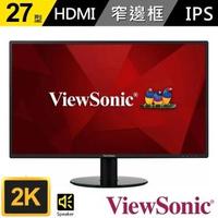 【ViewSonic 優派】VA2719-2K-SMHD 27型IPS 2K薄邊框電腦螢幕(16:9/IPS/60Hz/HDMI/DP/含喇叭)