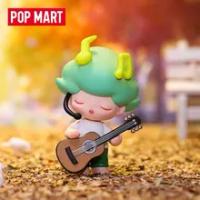 Original POP MART DIMOO สังคม University Series กล่องตาบอดของเล่นตุ๊กตาสุ่มน่ารักอะนิเมะของขวัญ