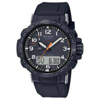 【CASIO 卡西歐】PRO TREK太陽能電波手錶(黑 PRW-50Y-1A)