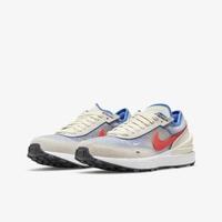 【NIKE 耐吉】休閒鞋 NIKE WAFFLE ONE GS 男女大童 米藍(DC0481101)