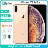 """Original Used Apple iPhone XS Max Unlocked Cell phones Face ID 6.5"""" 64GB/256GB ROM IOS A12 Bionic Chip 12.0MP Smart phone"""