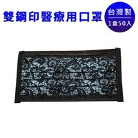 【可安】醫療口罩-奢華蕾絲-海洋藍(50入/盒)