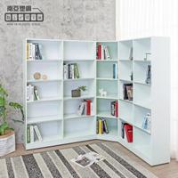 【南亞塑鋼】8.9尺L型開放式收納書櫃組合(3尺書櫃+1.9尺轉角書櫃+4尺書櫃)