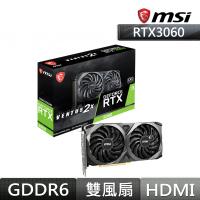 微星RTX 3060 VENTUS 2X 12G OC顯示卡+X470 GAMING PLUS MAX主機板