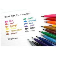 飛龍Pentel SES15C-6T 彩繪毛筆 柔繪筆6色套裝組 / SES15C-12T 柔繪筆12色套裝組
