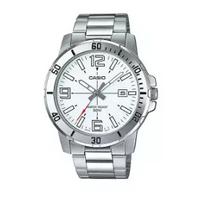 CASIO | นาฬิกาข้อมือผู้ชาย รุ่น MTP-VD01D สายสแตนเลสสีเงิน