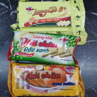 【越南】HẢI CHÂU 越南 營養口糧 軍糧 綠豆餅 綠豆/雞蛋/腰果 LƯƠNG KHÔ ĐẬU XANH