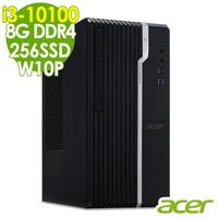 【Acer 宏碁】VS2670G 商用文書電腦 i3-10100/8G/256SSD/W10P/Veriton S/三年保固(四核心商用電腦)
