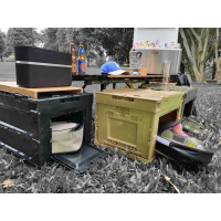 八刀草 軍風折疊收納箱 側開收納箱 居家 露營 收納 摺疊 側開 收納 filter017