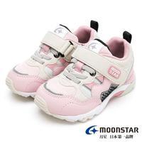 【MOONSTAR 月星】Hi系列十大機能2E寬楦童鞋(粉卡其)