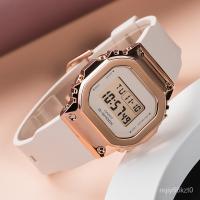 卡西歐金屬錶殼G-SHOCK玫瑰金經典小方塊casio手錶女GM-S5600PG-4 XUzH