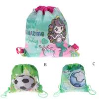 Mermaid Non-ทอกระเป๋ากระเป๋าเป้สะพายหลังเด็กกระเป๋าเดินทางDecor Drawstringกระเป๋าของขวัญ