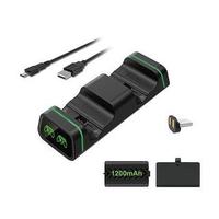 【LOTUS】XBOX ONE S X 雙電池 座充 充電器 無線手把 手柄