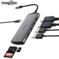 USB C Docking Station Dual Monitor Dual 4k Display to USB C Dock 2*HDMI PD MAX 100w Type C Hub USB Hub For Macbook Pro/Air HP