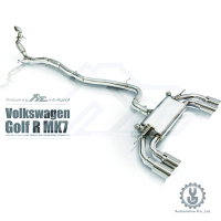 FI 高流量帶三元催化頭段 當派 排氣管 Volkswagen Golf R MK7 2015+ 底盤【YGAUTO】