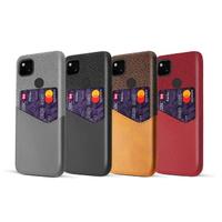 【拼布皮革】Google Pixel 4a 插卡手機殼(4色)