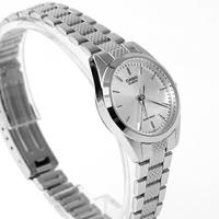 CASIO卡西歐 格紋錶帶銀色女款腕錶 有保固 柒彩年代【NEC126】原廠公司貨