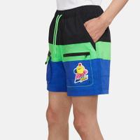 【滿千折百優惠開跑】NIKE 短褲 NSW HYPERFLAT 黑藍綠 可愛圖案 抽繩 拼接 工裝 男 (布魯克林) DM7919-011