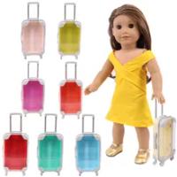 ตุ๊กตากระเป๋าเดินทางกระเป๋าเดินทางสำหรับ18นิ้วอเมริกันหญิง & 43ซม.Baby New Bornตุ๊กตาZapsรุ่นของเล่นรั...