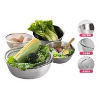 【康尼菲】多用途304不鏽鋼蔬果調理盆瀝水籃6件組