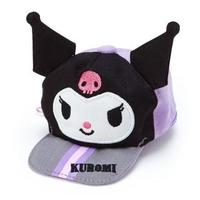 【小禮堂】酷洛米 棒球帽造型帆布化妝包《紫黑》掛飾.收納包.東京奧運系列
