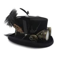 ด้านบน15เซนติเมตรผ้าขนสัตว์DIY Fedora Steampunkด้านบนหมวกสำหรับผู้หญิงผู้ชายอบไอน้ำพังก์เกียร์หมวกหม...