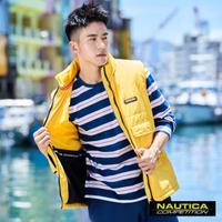 【NAUTICA】COMPETITION多功能輕防風背心(黃色)