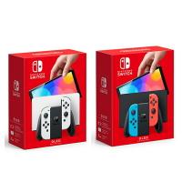【非首批依序發貨】任天堂新主機 Nintendo Switch (OLED款式) 台灣公司貨+ 保護貼+遊戲片1片+充電支架