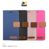 SONY Xperia 10 II XMART 斜紋休閒皮套 掀蓋 可立 插卡 磁扣 手機殼 保護殼