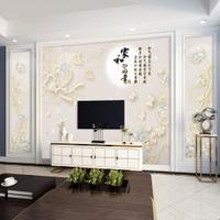 免運 壁紙 歐式8d電視背景墻壁紙5d立體簡約現代大氣無縫壁畫裝飾3d影視墻布