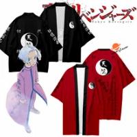 Kostum Cosplay Anime Tokyo Revenggers Kurokawa Izana Jubah Hitam Merah Tenjiku Kimono Seragam Hanagaki Takemichi Kaus Lengan Pendek