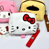 三麗鷗 Hello Kitty 凱蒂貓 帆布 拉鍊 化妝包 錢包 收納包 日本正版商品