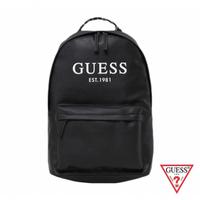 【GUESS】男包-簡約美式字母LOGO後背包-黑(VY753598BLA)