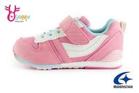 Moonstar月星 童運動鞋 Hi系列十大機能 後跟穩定 跑步鞋H9640#粉紅 奧森 奧森童鞋