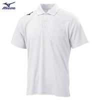 【MIZUNO 美津濃】男款短袖POLO衫 32TA002001(白)(POLO衫)