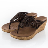 【SKECHERS】女 休閒系列 涼鞋 BEVERLEE(31715CHOC)