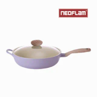 【NEOFLAM】Paul&咪咪聯名款-Retro紫愛咪咪系列 30cm炒鍋(IH適用/不挑爐具/可直火)