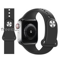 🌻🎣wezi適用apple watch6表帶硅膠S6/S5蘋果手表潮iwatch6/5/se/2/3//