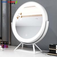 興客隆 化妝鏡 北歐 臺式鏡 帶燈 led 梳妝鏡子 美容鏡 臥室 鏡 714