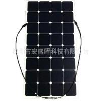 【現貨免運】sunpower高效半柔性太陽能板半柔性太陽能發電板100W太陽能板