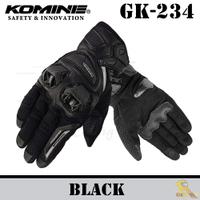 ~任我行騎士部品~KOMINE GK-234 夏季 透氣 碳纖維 皮布混合 防摔 手套 可觸控 2019年款 黑黑