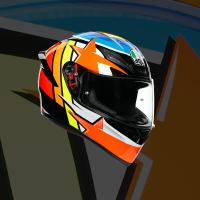 任我行騎士部品 AGV K1 選手彩繪 RODRIGO 全罩 安全帽 單鏡片 輕量化 通風