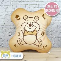 Disney 迪士尼 小熊維尼 餅乾造型 抱枕 午安枕【蕾寶】