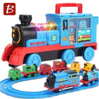 寶樂星 電動軌道收納火車 5814(附電池)/一台入(促1500) 回力雙磁合金火車 慣性動力 電動火車 收納功能 燈光音效-生