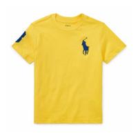 美國百分百【Ralph Lauren】T恤 RL 短袖 T-shirt Polo 大馬 藍馬 素面 金黃 E102