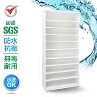 【IHouse】SGS 防潮抗蟲蛀沙發塑鋼加高加寬開放式置物鞋櫃 寬83.5深33.5高180cm